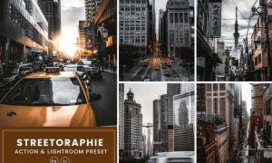 Streetography Photoshop Action & Lightrom Presets