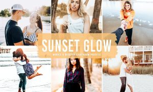 Sunset Glow Mobile & Desktop Lightroom Presets