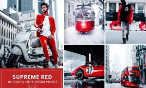 Supreme Red Photoshop Action & Lightrom Presets
