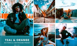 Teal and Orange Action & Lightrom Presets