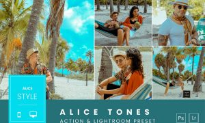 Alice Tones Action & Lightroom Preset