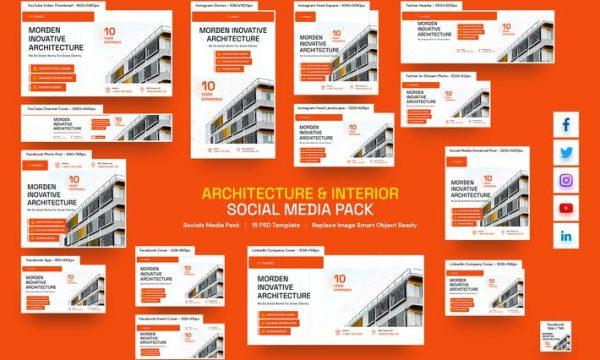 Architecture and Interior Social Media Pack XJSKZ4L