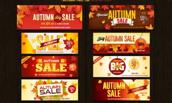 Autumn / Fall Sale Facebook Cover 3V2S23S