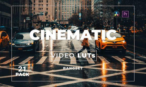 Bangset Cinematic Pack 21 Video LUTs