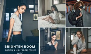 Brighten Room Action & Lightrom Presets