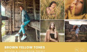 Brown Yellow Tones Action & Lightroom Preset