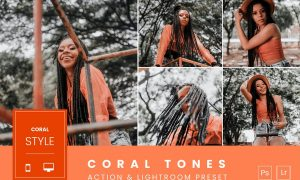 Coral Tones Action & Lightroom Preset