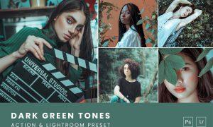 Dark Green Tones Action & Lightroom Preset