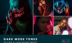 Dark Mode Tones Action & Lightroom Preset