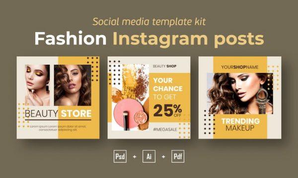 Fashion Instagram posts template kit - 15 GQE6YX7