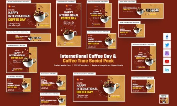 International Coffee Day , Coffee Time Social Pack GDVM2YG