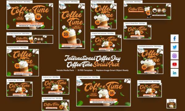International Coffee Day Social Pack
