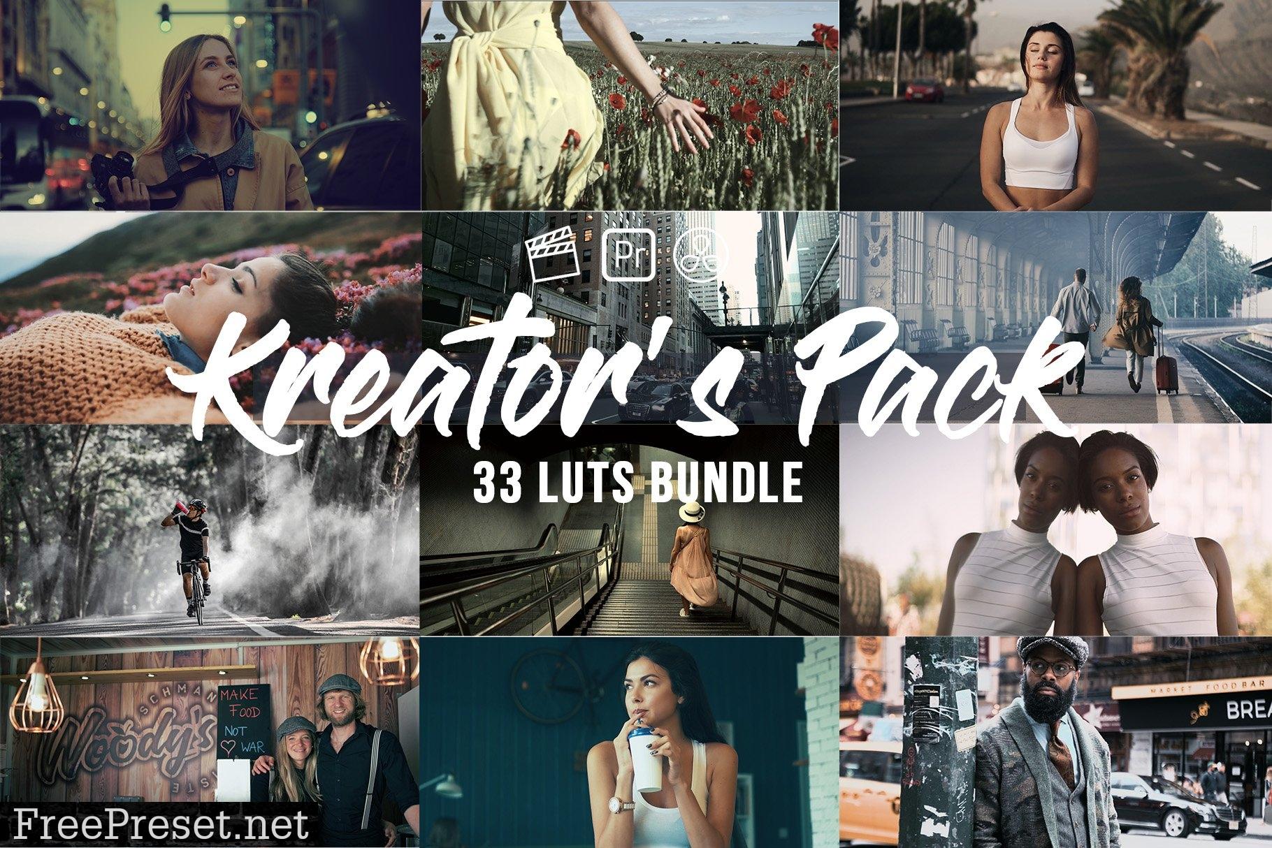 Kreator's Pack 33 Video LUTs Bundle 6277753