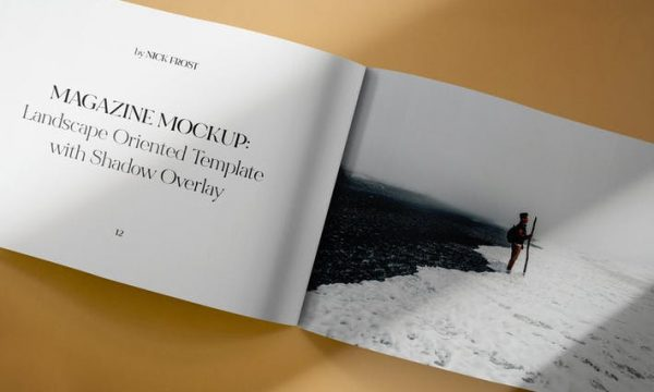 Landscape Magazine Spread Mockup 6HK4PUZ