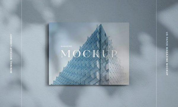 Landscape US Letter Magazine Mockup NSFQLL3