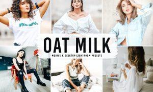 Oat Milk Mobile & Desktop Lightroom Presets