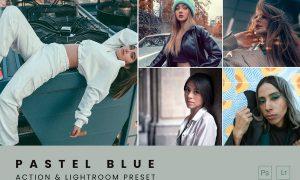 Pastel Blue Tones Action & Lightroom Preset