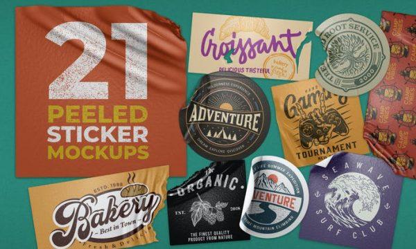 Peeled Sticker Mockup Vol 2 ULRRT5B