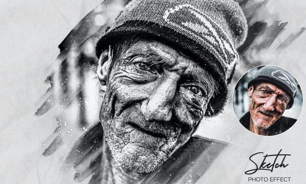 Pencil Sketch Photo Effect Action