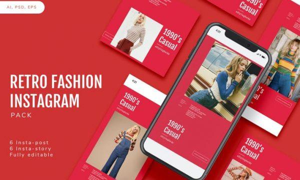 Retro Fashion Instagram Pack A25GC8T