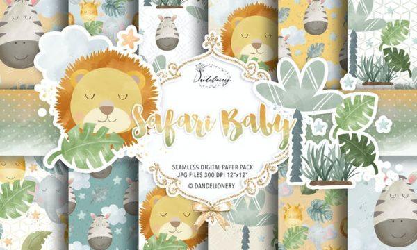 Safari Baby digital paper pack DC64GY4