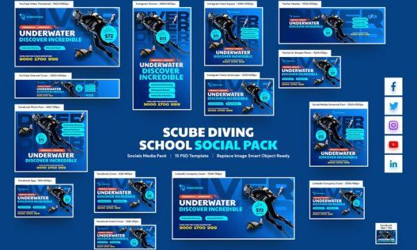 Scuba Diving School Social Pack 8FUQPSV