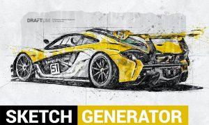 Sketch Generator - Draftum - Photoshop Plugin