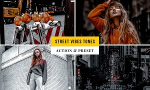 Street Vibes Tones Action & Lightroom Preset