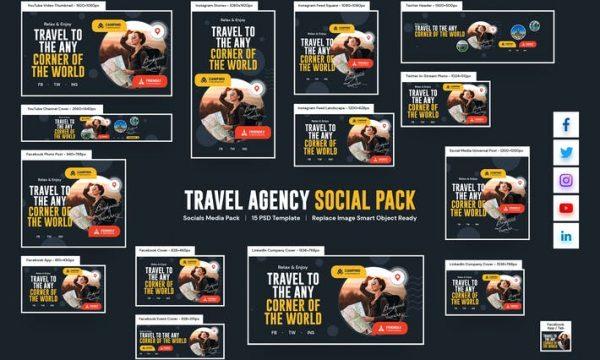 Travel Agency Social Pack