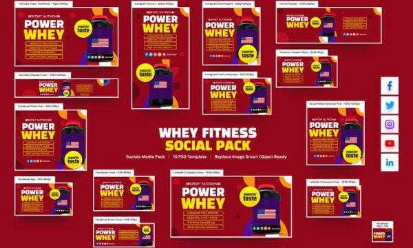 Whey Fitness Social Pack 4G3ZTBR