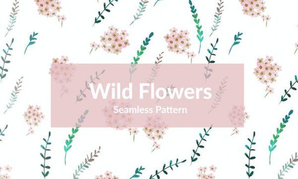 Wild Flowers Seamless Pattern 3WJ5ZLA