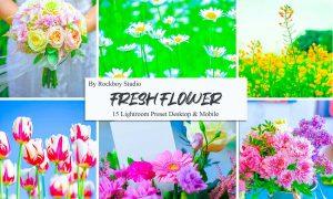 15 Fresh Flower Lightroom Presets