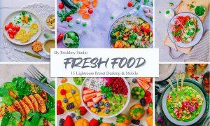 15 Fresh Food Lightroom Presets