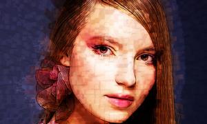 3D Pixel Photoshop Action 24534484