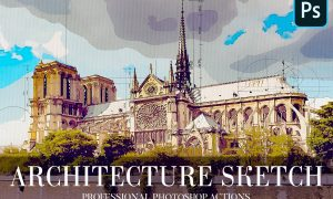 Architecture Sketch Photoshop Action 4870065