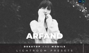 Arfand Desktop and Mobile Lightroom Preset