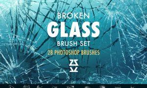Broken glass Photoshop brush set 5609767