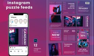 Candani Instagram Puzzle Feed ND6Z6RA