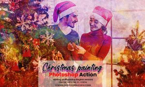 Christmas Painting Photoshop Action 5636427
