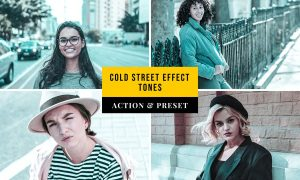 Cold Street Effect Tones Action & Lightroom Preset