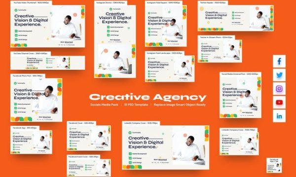 Creative Agency Social Media Pack ADHQN48