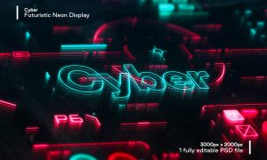 Cyber - Futuristic Neon Display 5845749