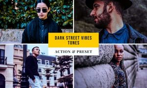 Dark Street Vibes Tones Action & Lightroom Preset