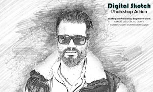 Digital Sketch Photoshop Action 5218660