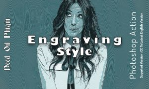 Engraving Style Photoshop Action 6447344