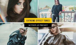 Extreme Effect Tones Action & Lightroom Preset