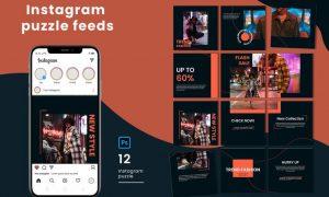 Fashion Instagram Puzzle Feed 4MUDMEH