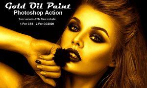 Gold Oil Paint Photoshop Action 5268701