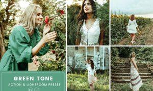 Green Tone Action & Lightrom Presets