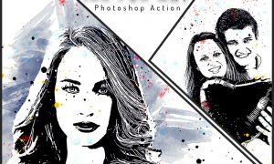 Ink Pen Art Photoshop Action 6410268